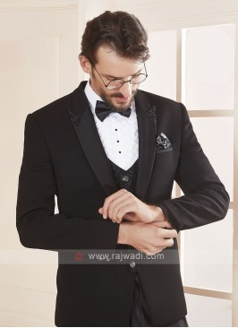 imported fabric black color suit