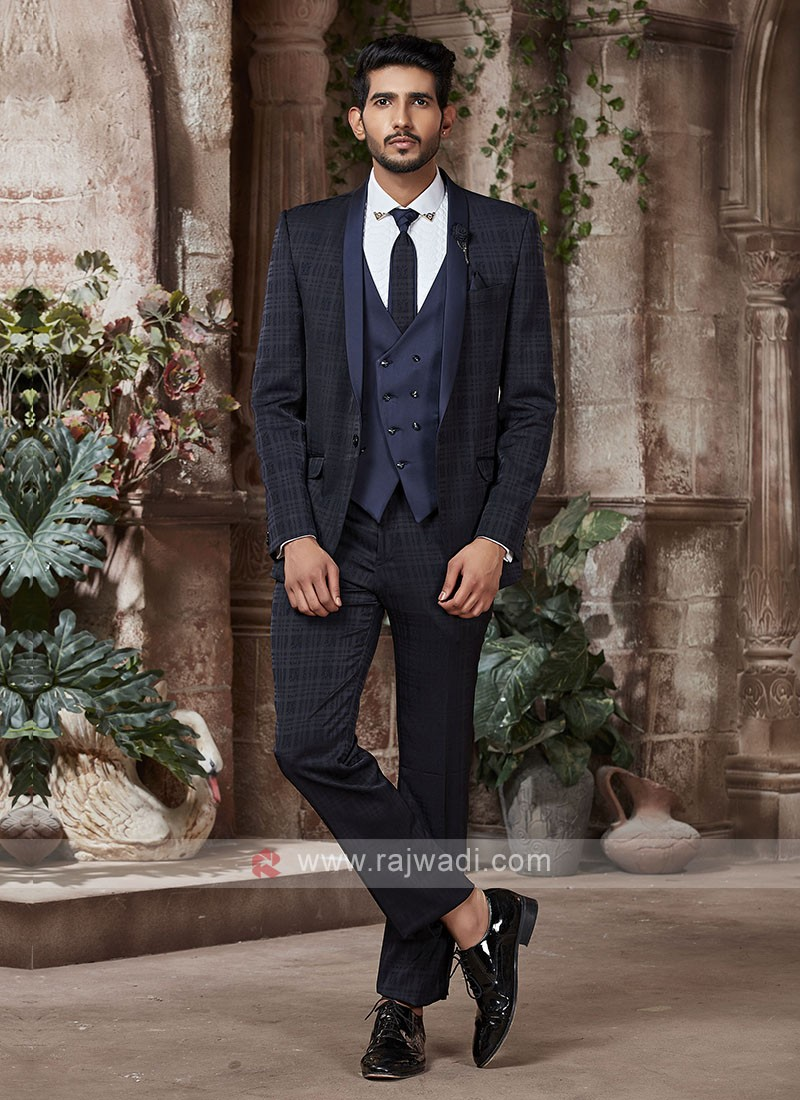 imported fabric blue color suit