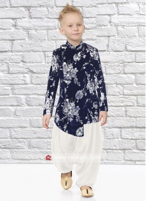 Imported Fabric Blue Indo Western