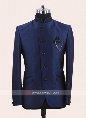 Imported Fabric Blue Jodhpuri Suit