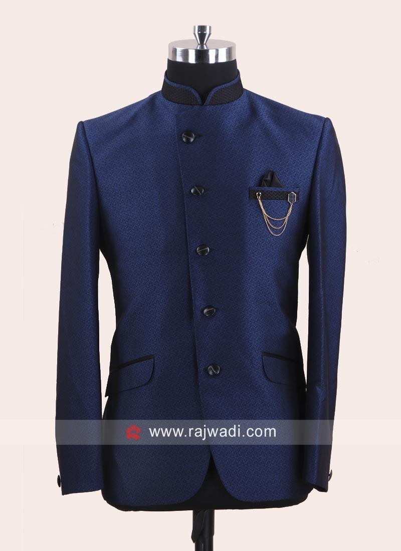 Imported Fabric Blue Jodhpuri Suit