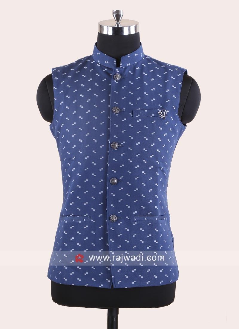 Imported Fabric Blue Koti