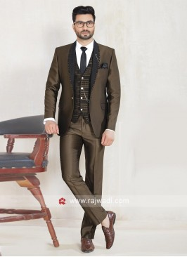 Imported Fabric Brown Color Suit