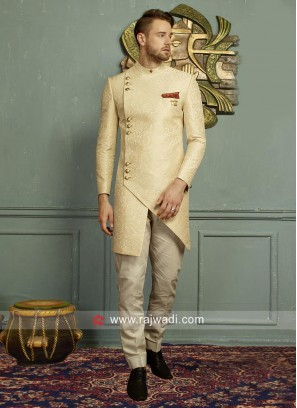 Imported Fabric Cream Indo Western
