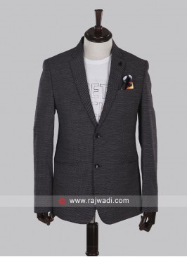 imported fabric grey color blazer