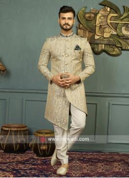 Imported Fabric Grey Indo Western