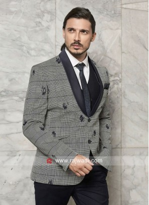 Imported Fabric Grey Suit