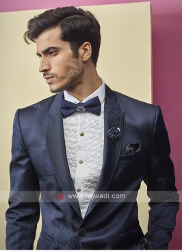 imported fabric navy blue color suit