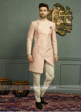 Imported Fabric Pink Indo Western For Wedding