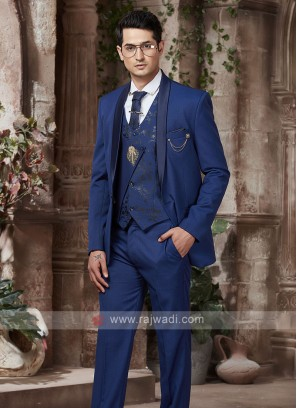 imported fabric royal blue suit