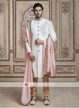 Imported Fabric Sherwani With Dupatta