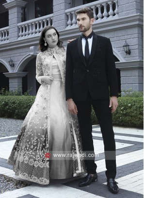 Black Imported Fabric Suit For Wedding