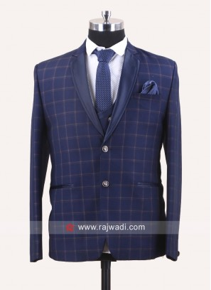 Imported Fabric Suit in Blue