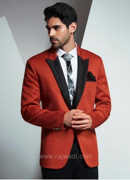 Imported Fabric Suit in Rust Color