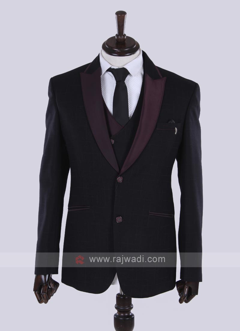 imported fabric wine color suit