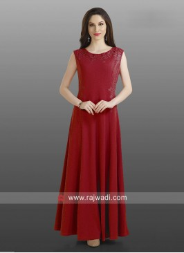 Imported Lycra A Line Long Kurti
