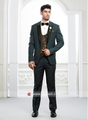 Imported Material Cadet Blue Color Suit