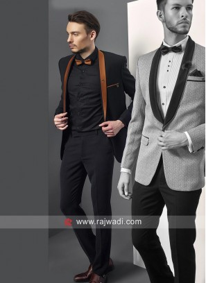 Charming Imported Fabric Black Suit