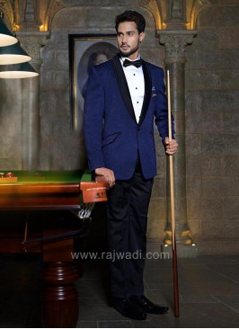 Imported Material Dark Blue Suit