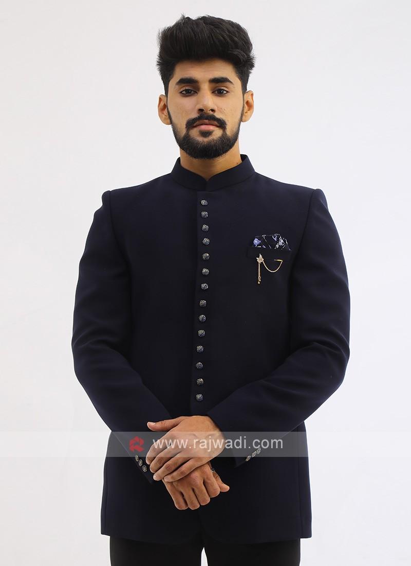 Imported Navy Jodhpuri Suit
