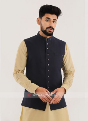Imported Nehru Jacket In Blue