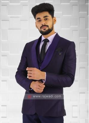 Imported Purple Party Wear Suit