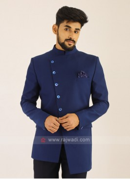 Imported Royal Blue Jodhpuri Suit