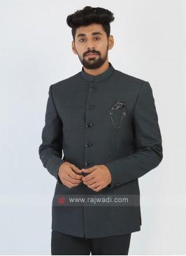Imported Silk Green Jodhpuri Suit