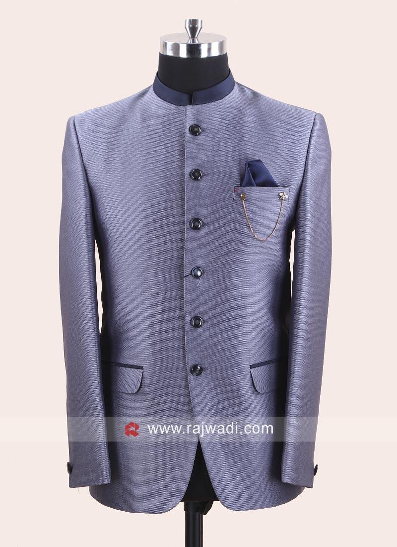 Imported Slate Grey jodhpuri Set