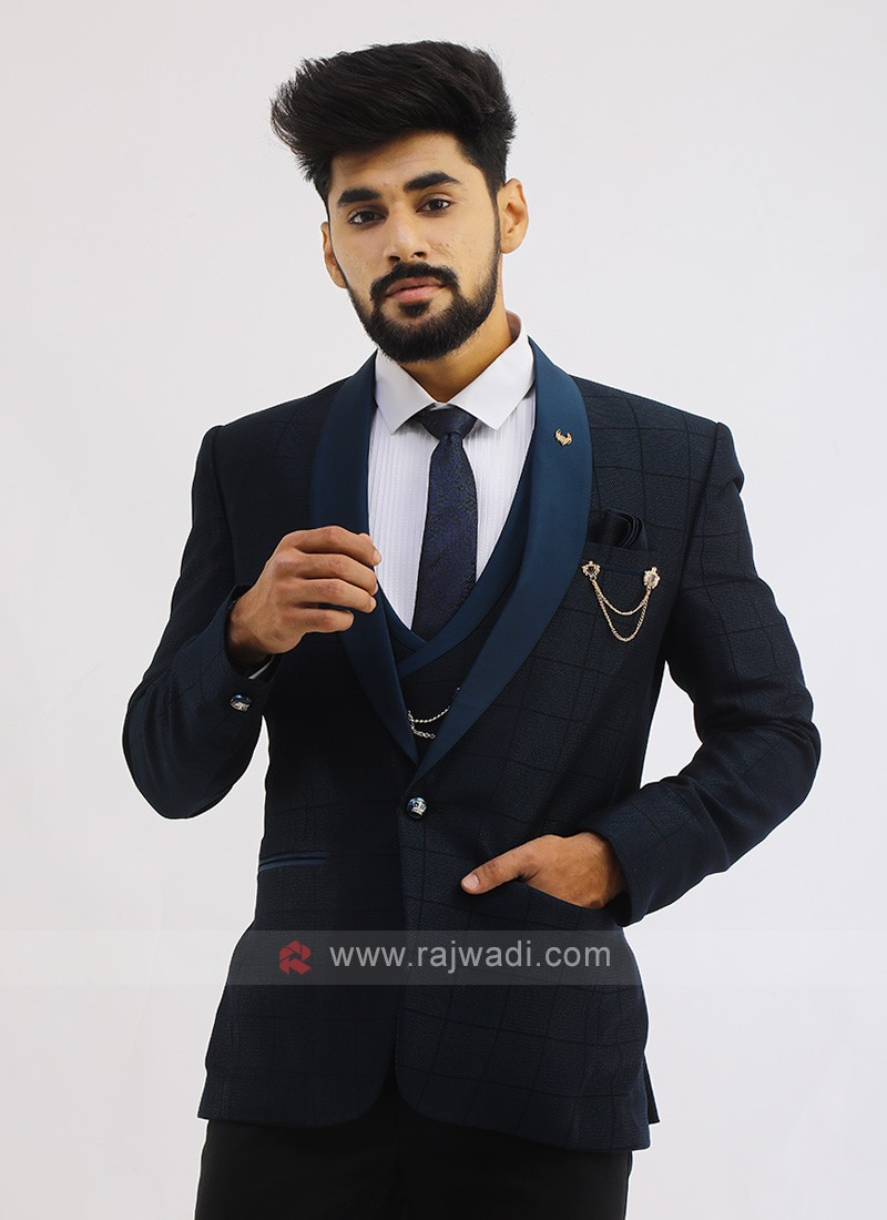 Imported Suit In Blue