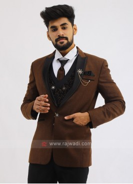 Imported Suit In Brown