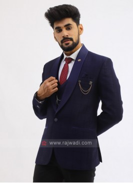 Imported Suit In Navy