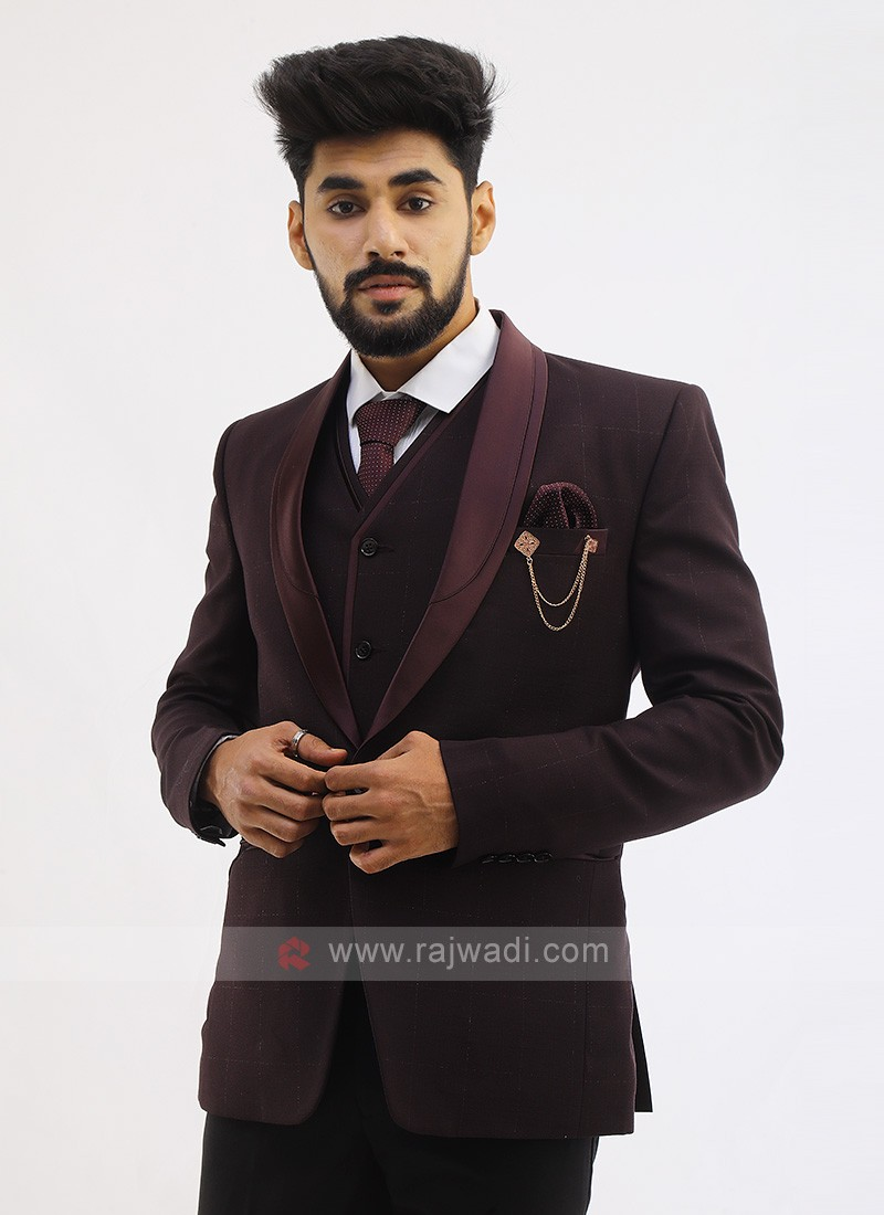 Imported Suit In Wine