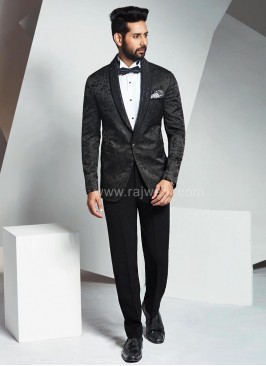 Imported Suit with Lapel Stone Work