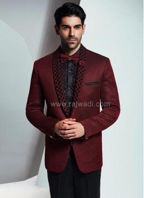 Imported Wedding Suit with Thread Work