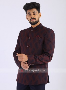Imported Wine Jodhpuri Suit