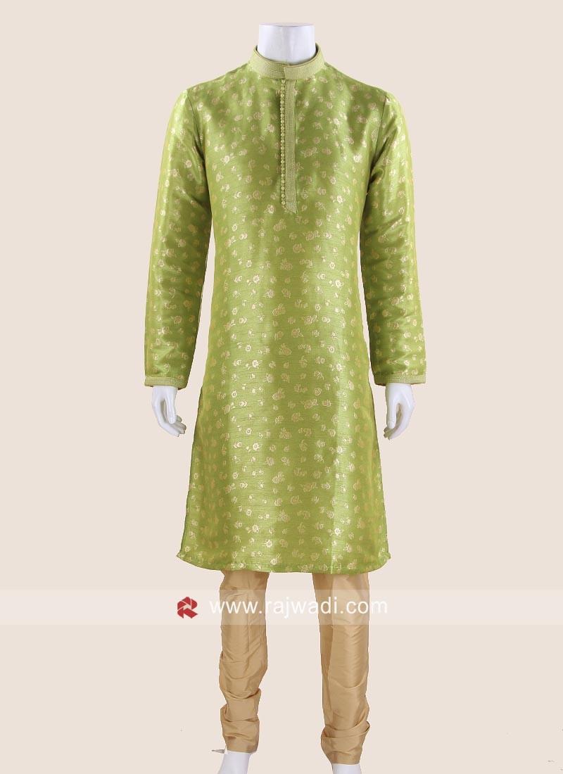 Impressive Parrot Green Kurta Pajama