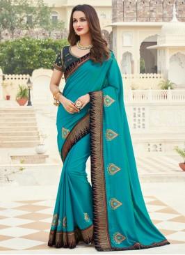 Impressive Silk Ceremonial Designer Saree