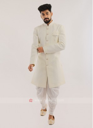 Indo western For Men In Off White
