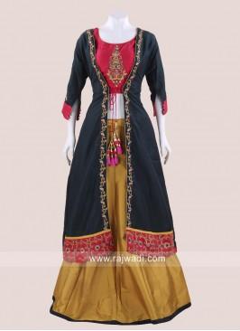 Indo Western Jacket Style Choli Suit
