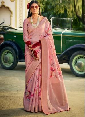 Innovative Silk Digital Print Classic Designer Saree