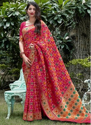Intriguing Silk Weaving Traditional Saree