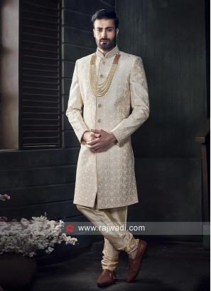 Ivory Color Indo Western with Resham Work