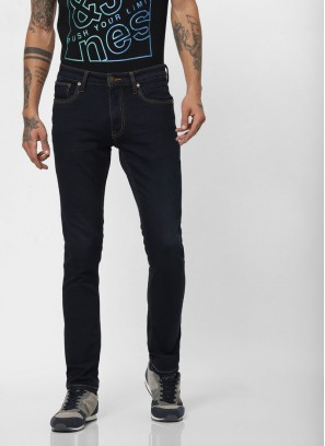 JACK & JONES Dark Blue Low Rise Ben Skinny Fit Jeans