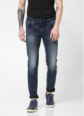 JACK & JONES Darl Blue Low Rise Faded Ben Skinny Fit Jean