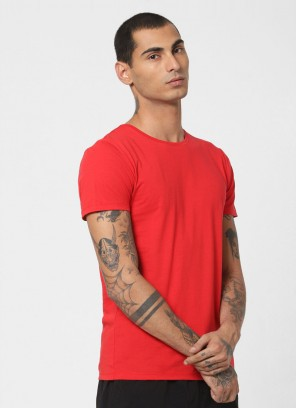 Jack & Jones Red Crew Neck T-Shirt