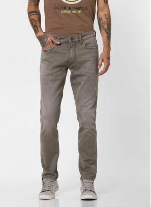 JACK & JONES Stylish Grey Slim Fit Jeans