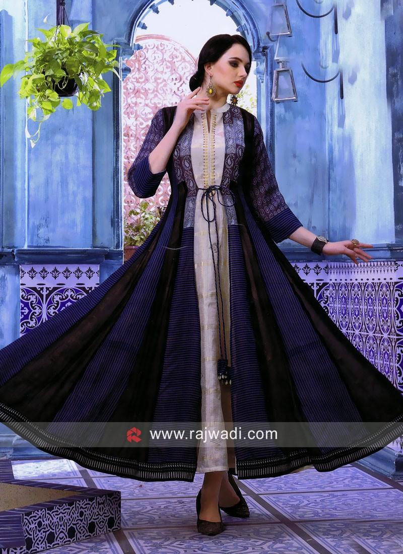Jacket Style Designer Kurti