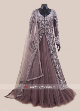 Jacket Style Indo Western Gown