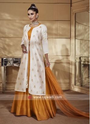 Jacket Style Silk Lehenga Choli